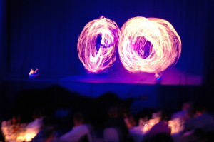 Firmenfest Feuershow